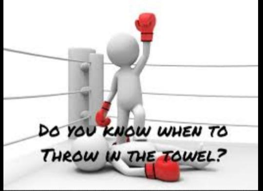 Has There Ever Been That One Thing Or Person That Made You Feel Like Throwing In The Towel?