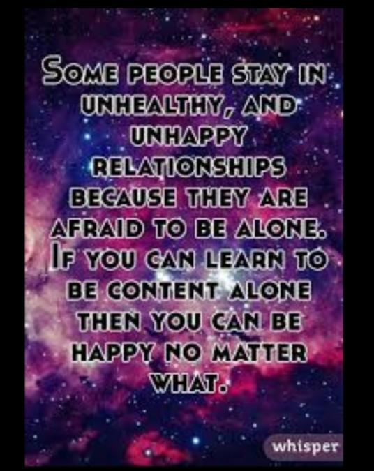 Do You Think People Settle For Or Stay With The Wrong People To Avoid Being Alone?