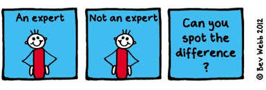 What are you and expert at?