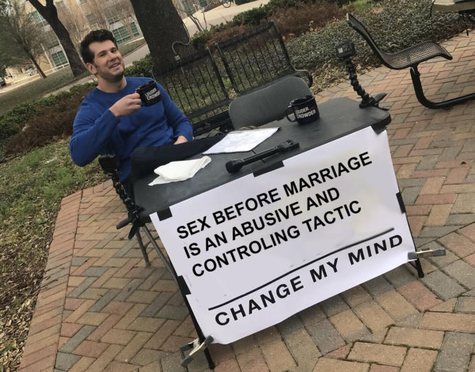 NO sex before marriage. Fellas, would you wait😅🙄?