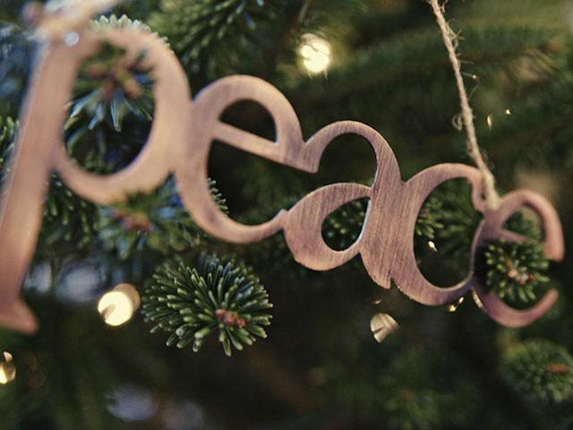 What is one thing you can do to have a little more peace during Christmas?