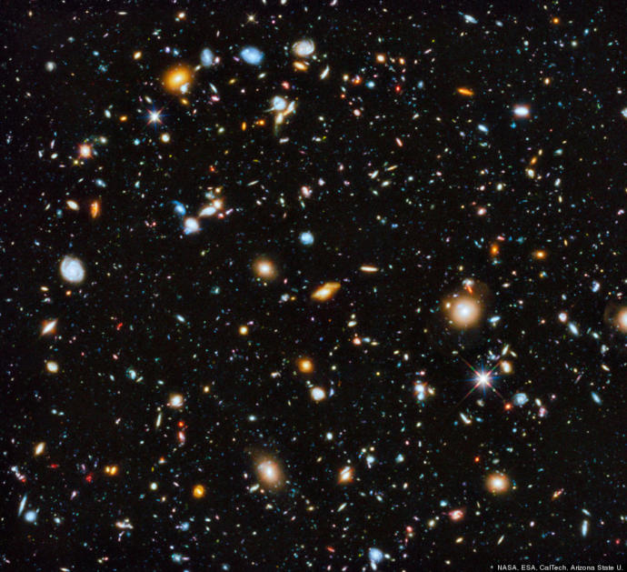 Hubble showing another field of galaxies, 2nd of hundreds