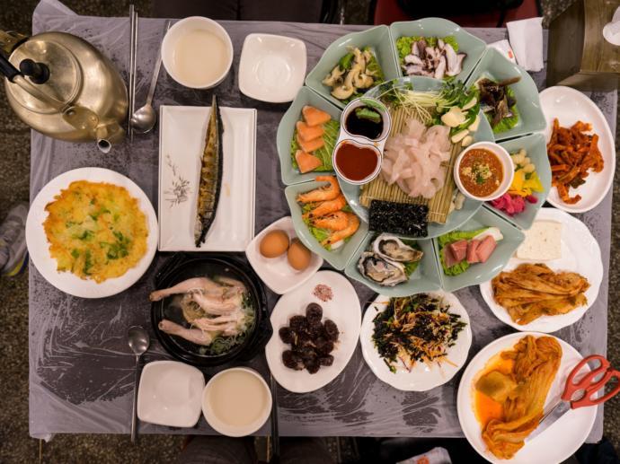 Korean dishes.
