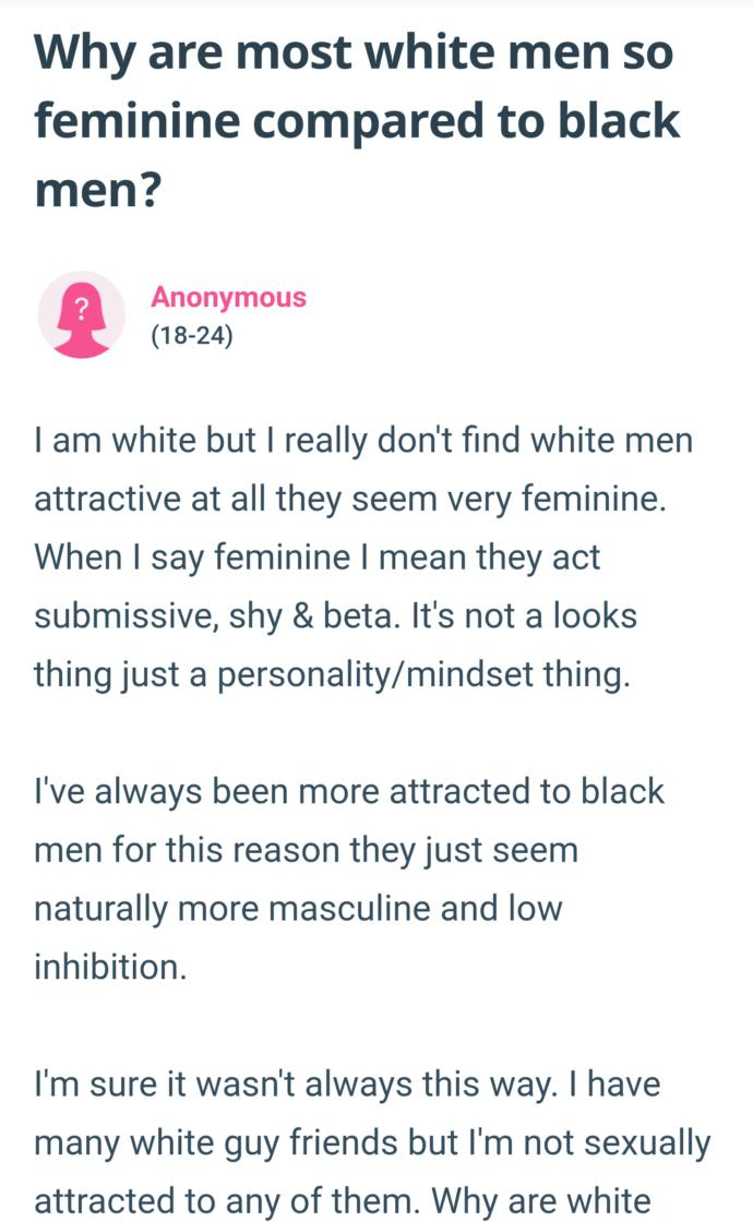 White women, if white men are so bad, why do you still date and marry them?