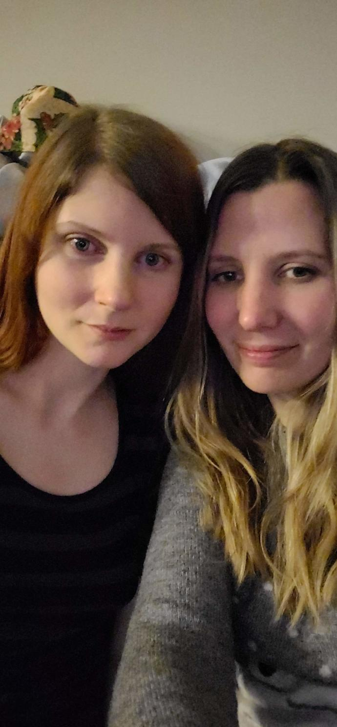 We are completely natural here. No makeup and hair unstyled with comfy clothes. Which girl is more attractive?