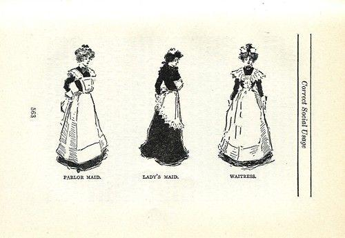 Did maids use to wear their maid uniforms if they had to leave the house to do some errands (Victorian Era)?