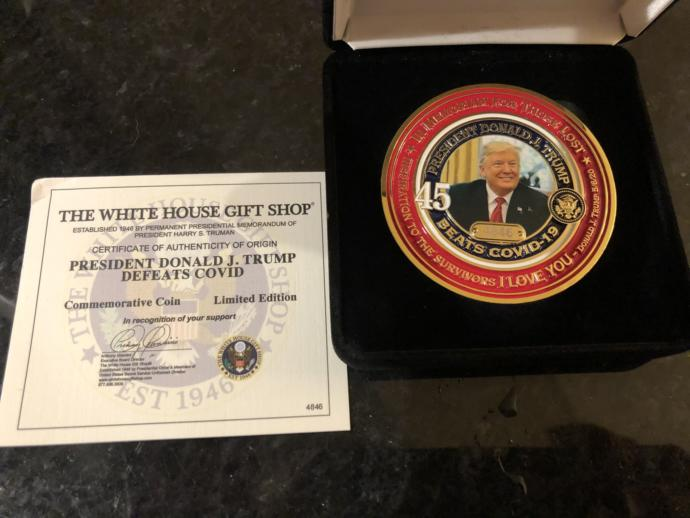 Have you bought your Trump defeats Covid commemorative coin?