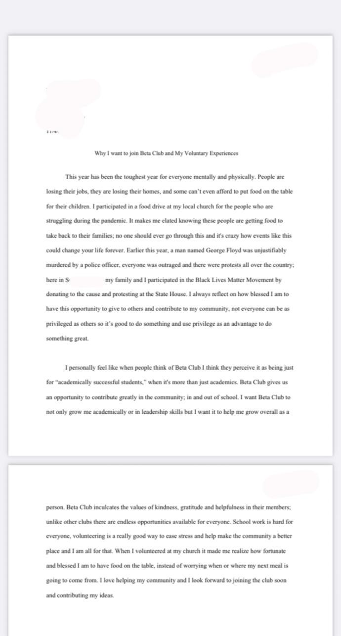 heres my essay