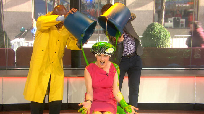 Would you ever volunteer to be slimed (nickelodeon style)?
