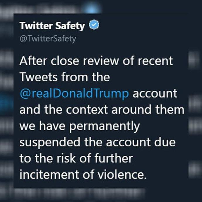 Trump has now been permanently suspended by Twitter. How will he make his statements now?