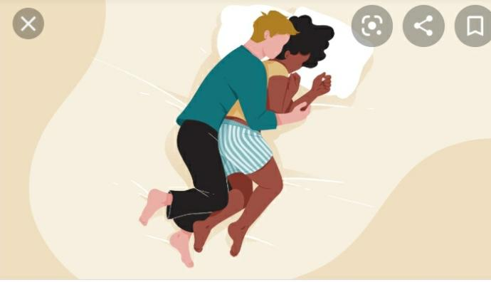 What influences a womans side of the bed when sleeping with a sexual partner?