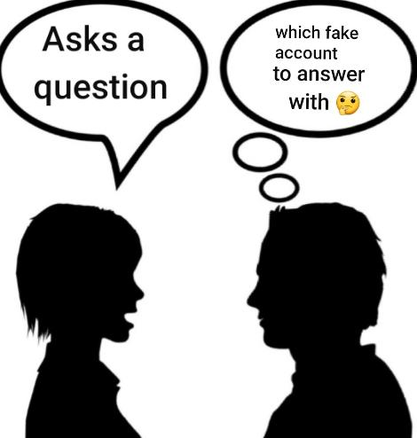 If Just Talking To Yourself Is Considered Crazy, How Crazy Are People That Use Multiple Online Accounts To Interact With/Answer Their Own Question?
