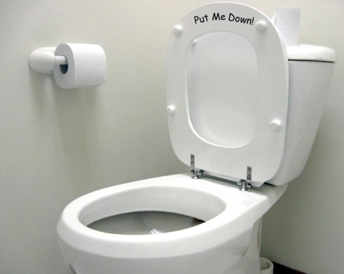 Girls, do you get mad when guys dont put the toilet seat down for you?