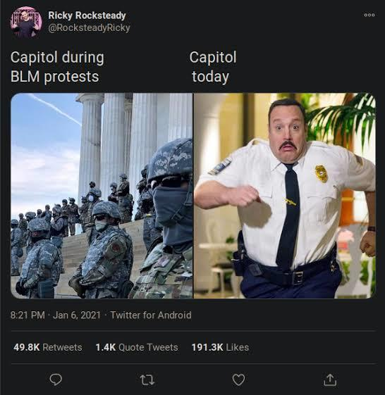 Why are people still supporting trump after all thats happened at the Capitol? Also why are they comparing it to black lives matter and ANTIFA?