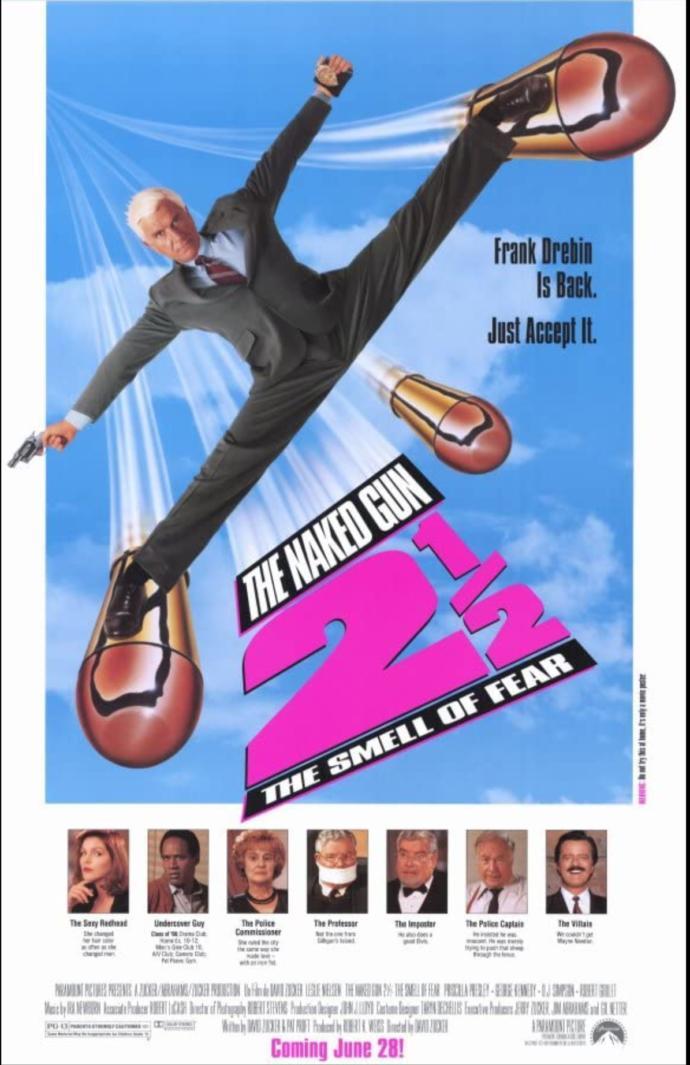 Lt. Frank Drebin: Which was your favorite Naked Gun movie?