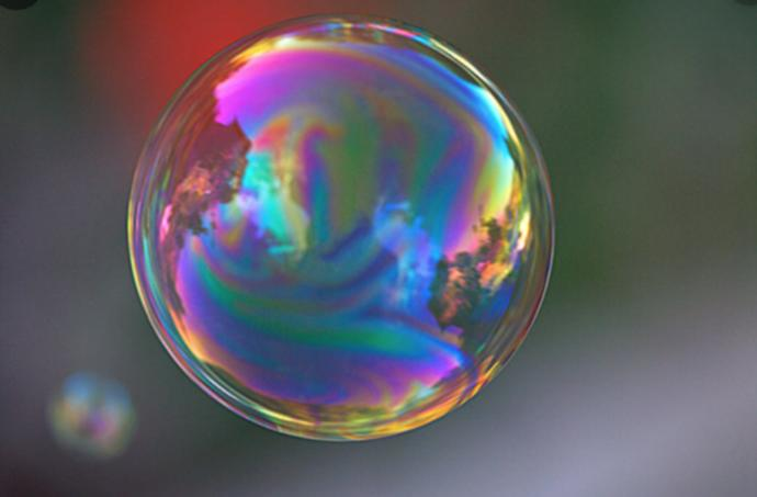 How do you break your bubble?