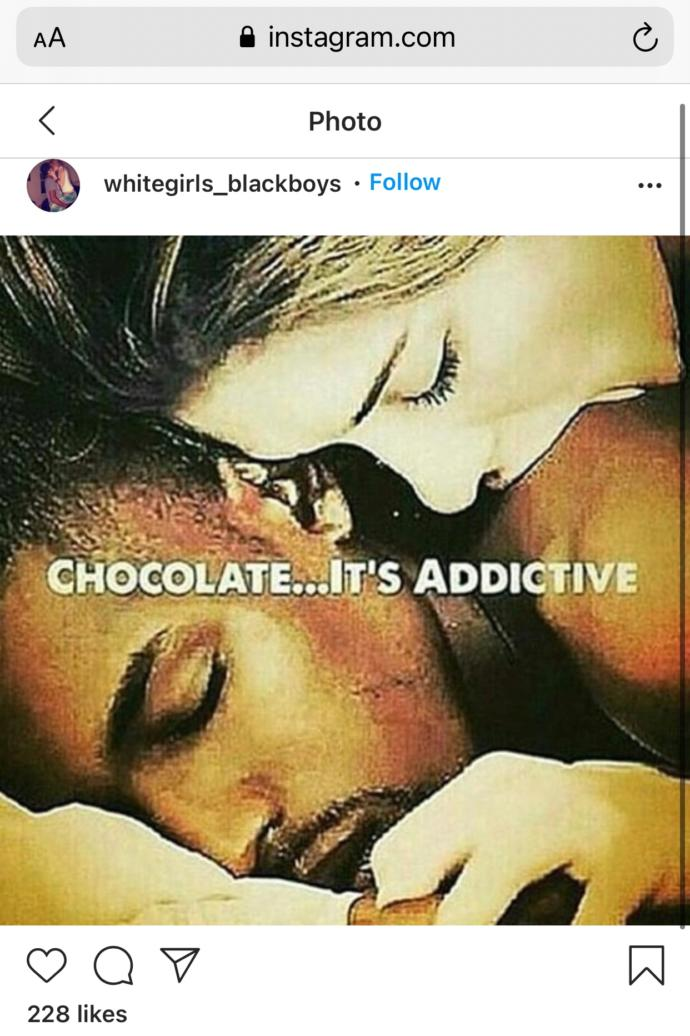 What are your thoughts about how racial dating has become (only a little bit of screenshots compared to what Ive seen)?