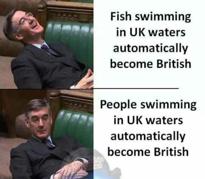 Should people caught in a countries waters become their property?