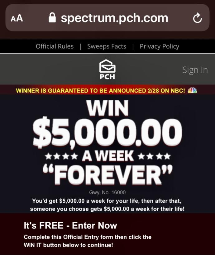 Is Publishers Clearing House legit?