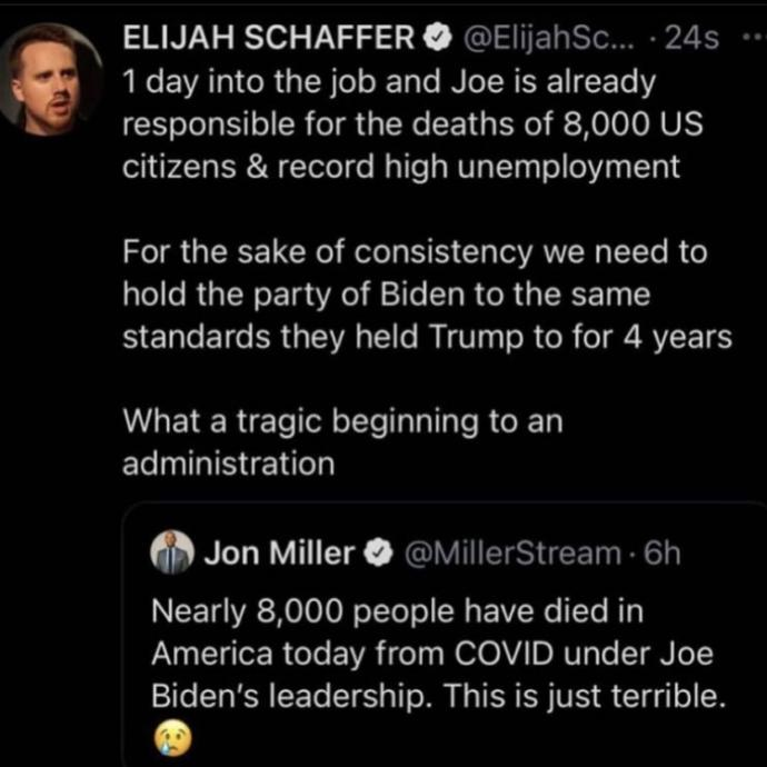 Should we hold Biden to the same standard as the left held Trump?