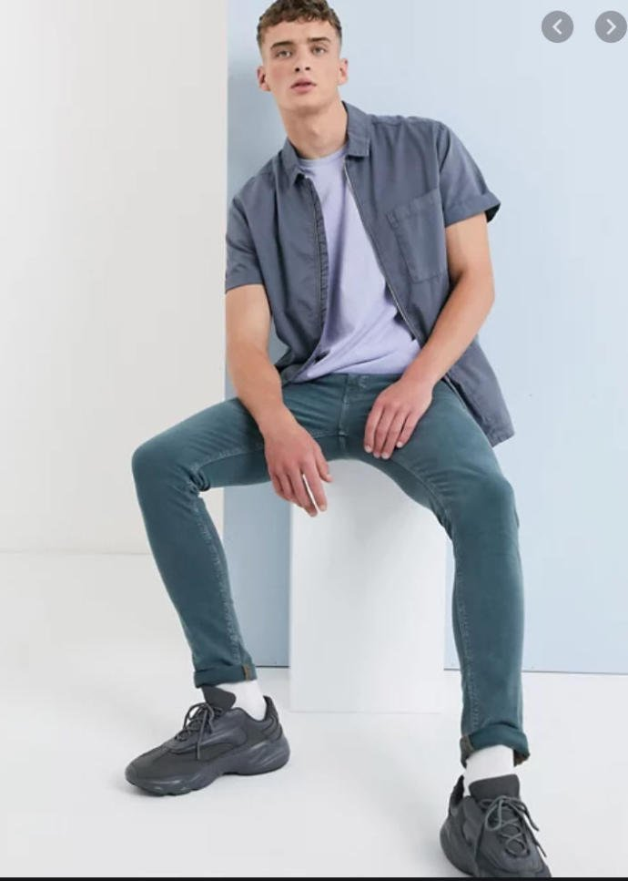 ASOS Super Skinny Jeans in Teal