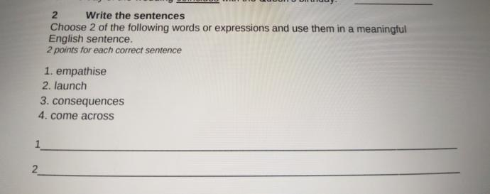 Can someone help me with my English test?