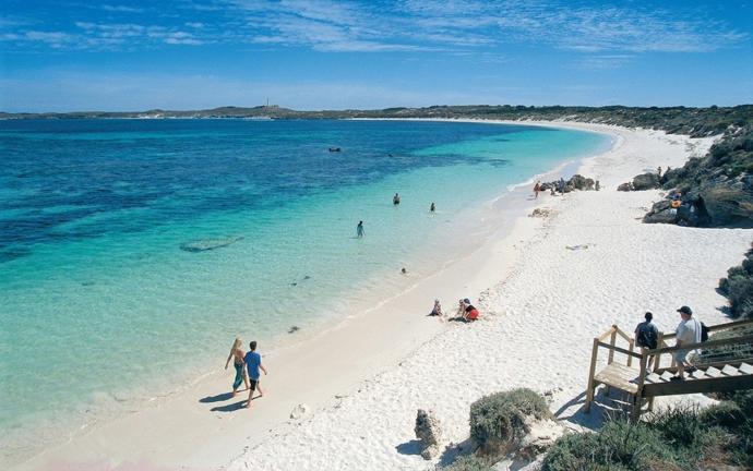 Australia - resources... beaches... retirement? Is that a shark?