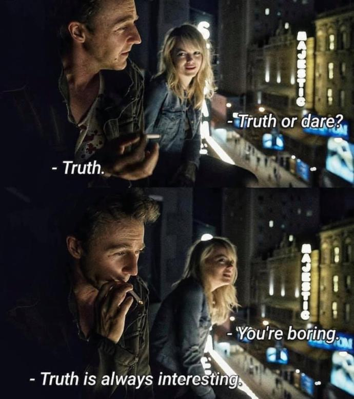 Is the truth always interesting?