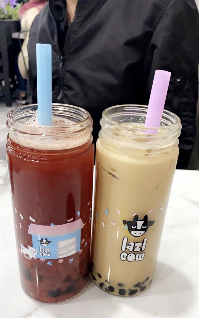 sometimes, if I ever wanna go baesic... earl grey boba tea is calling~~ (to the right)