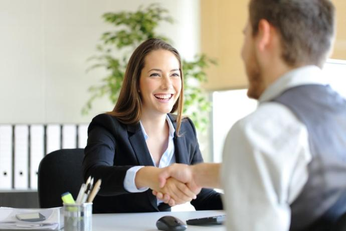 How do you make a good impression at a job interview?