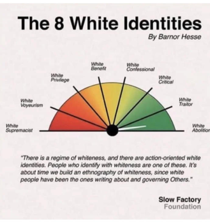 Yooooooo? Have you heard about the eight white identities? Do you think we should teach children in order to end white supremacy and racism for good?