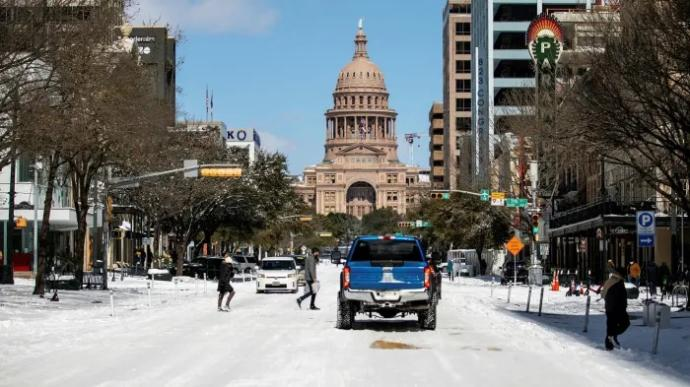 Why is Texas snow black? Can someone explain?