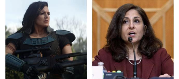 Cancel Culture? Neera Tanden and Gina Carano are in the same boat, right?
