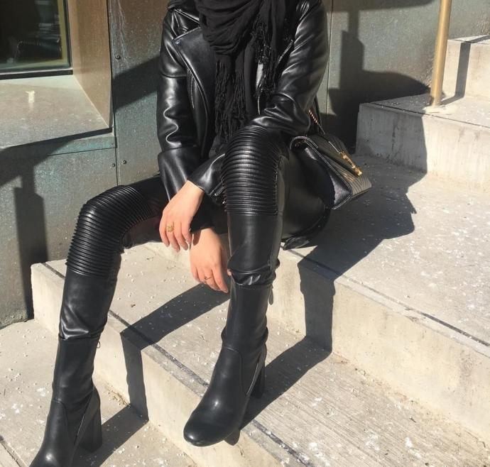Do women wear leather pants in tropical countries?