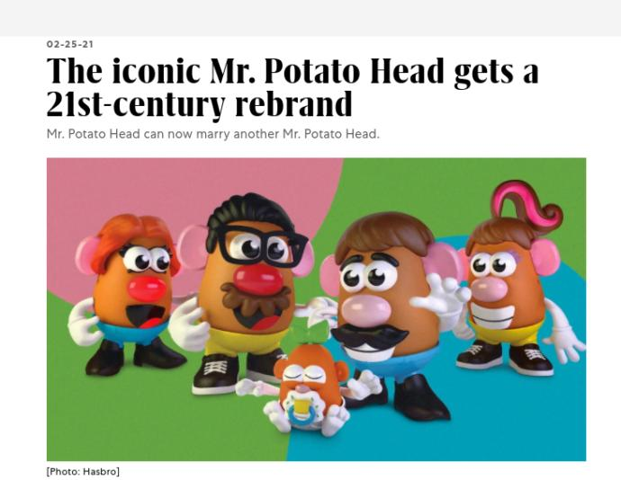 Are you glad that Hasbro has finally dropped the Mr. title to Mr. Potato Head, and opted for a more inclusive and gender neutral brand name?