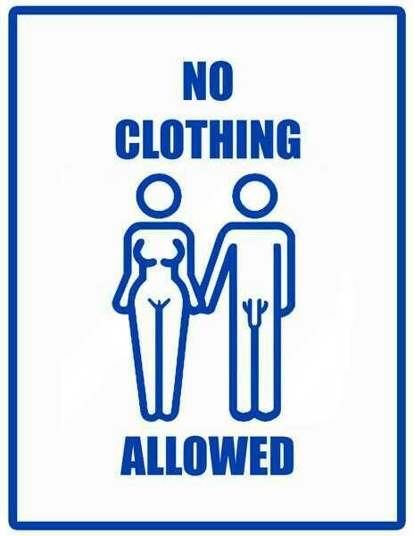 Clothes are banned. What would happen?