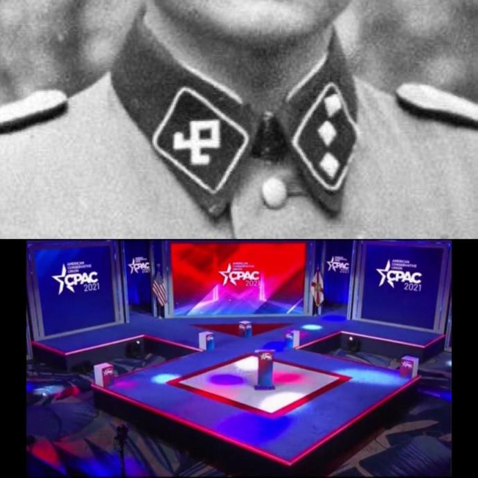 You think CPAC knowingly used Nazi symbol?