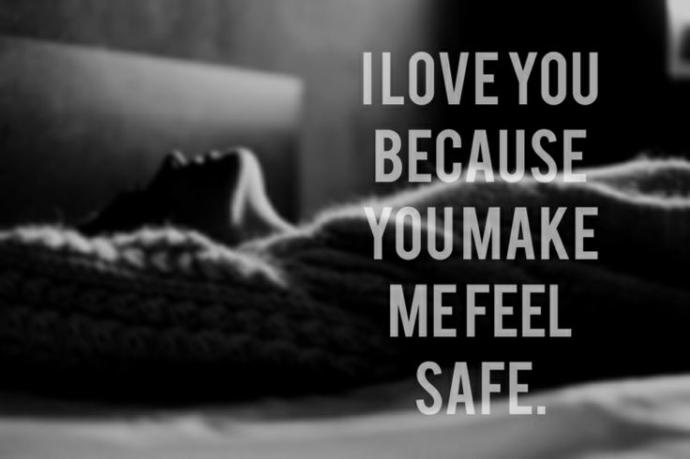 """Girls, In your own words what do you mean when you say you want a guy that makes you feel """"safe""""?"""