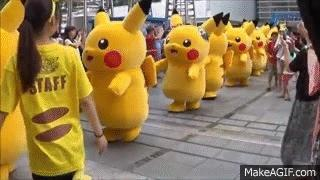 How would you react to an army of pikachu invading your city?