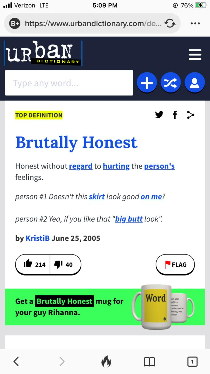 Do you find Brutal Honesty attractive or even sexy in a person?