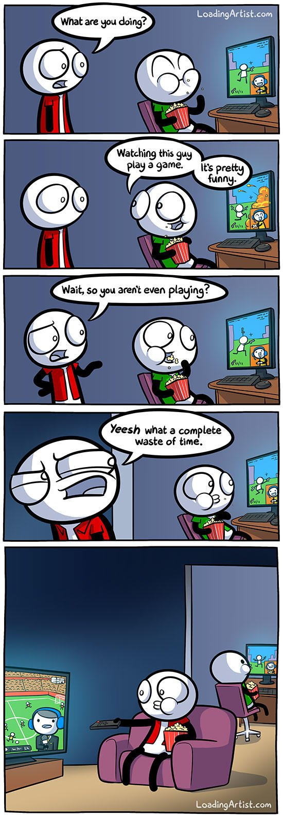 Do people that hate video games think it's more if a waste of time than other forms of media like movies, tv, reading?