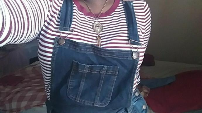 My overalls accompanied by a random shirt from my closet, couldnt find potato ones