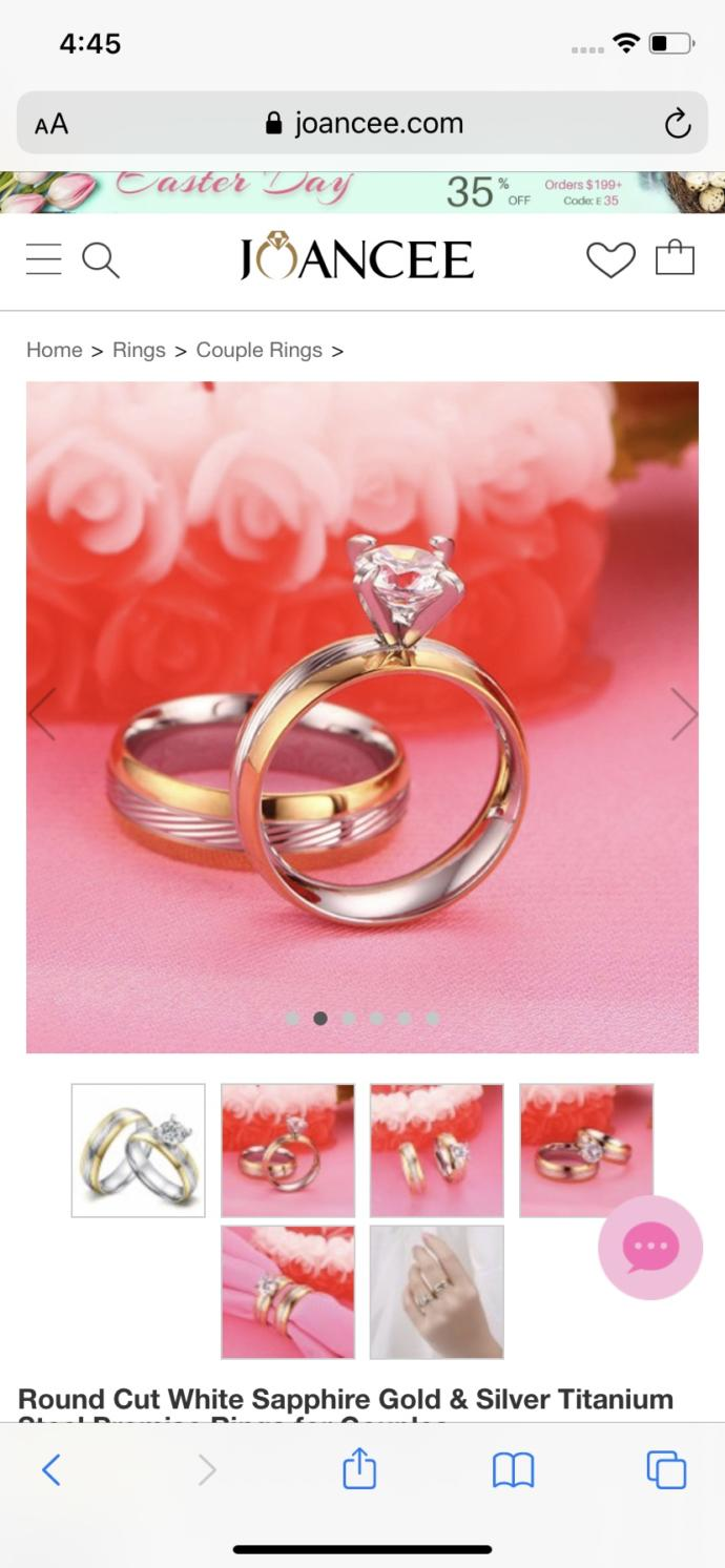 Thoughts on this promise ring?