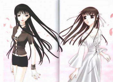 Dark femininity on the left, Light femininity on the right
