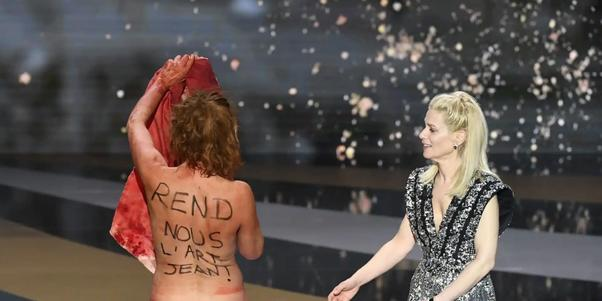 How do you think this French actresss protest wouldve gone down at the Oscars?