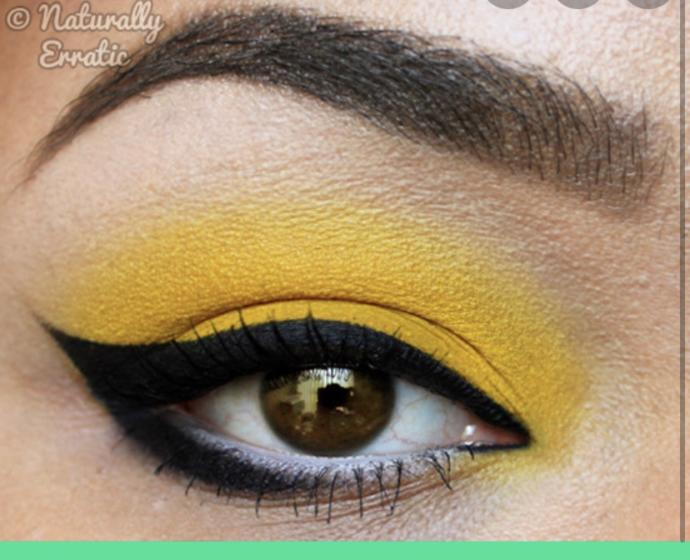 Quick help which lipstick color goes with yellow eyeshadow?