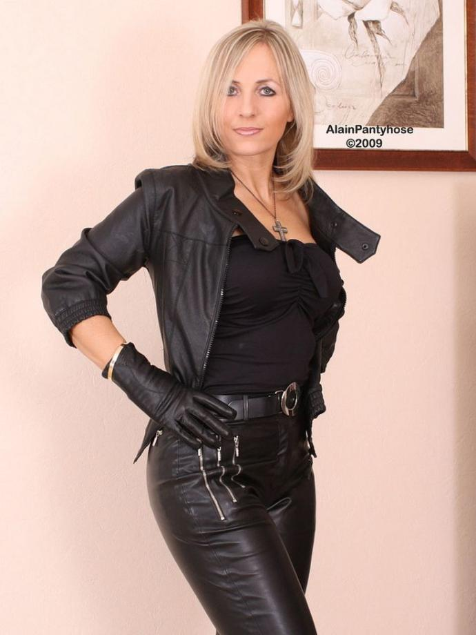 Do You Think Older Women Rock The Leather And Boots Look?