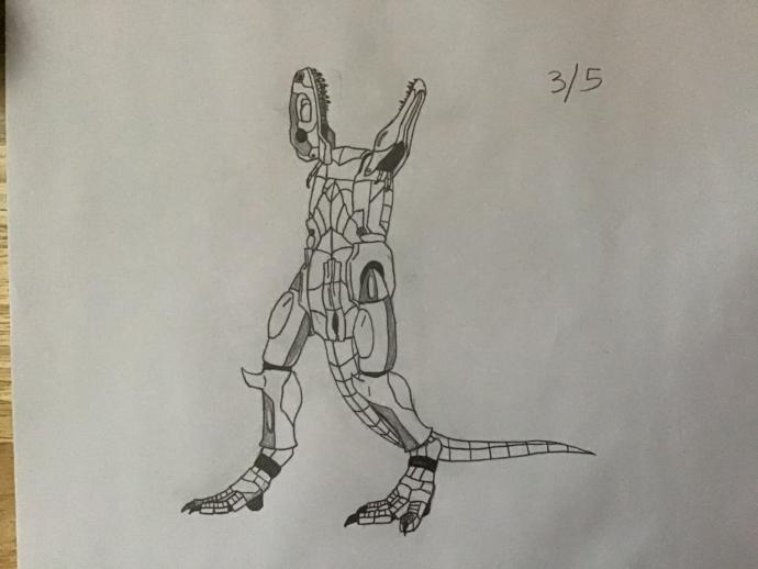 Give a soft and wet welcome to the first Dinosaurian Robonian, Gigato?