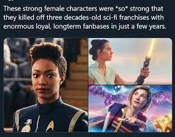 Which pop culture franchise has been ruined by SJWs the worst?