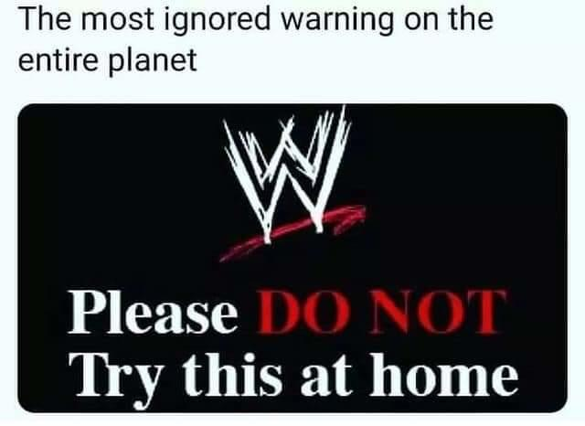 Did you ever try wrestling moves at home?
